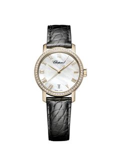 Chopard Classic White Mother of Pearl Dial 18 Carat Rose Gold Men's Watch Cool Watches, Watches For Men, Mens Rose Gold Watch, Swiss Luxury Watches, Authentic Watches, Chopard, High Jewelry, Jewellery, Diamond