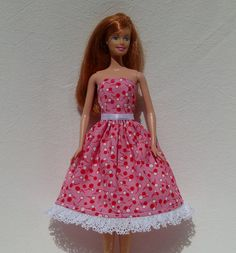 Handmade Barbie Dress.  Used to make my own Barbie clothes
