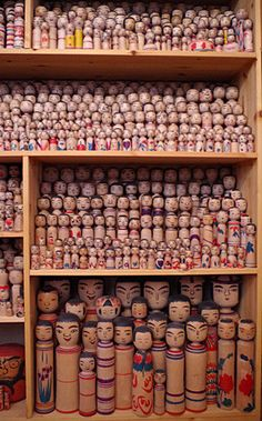 Japan Tourism, Japan Travel, Doll Japan, Doll Display, Asian Doll, Kokeshi Dolls, Wooden Dolls, Japan Art, Displaying Collections