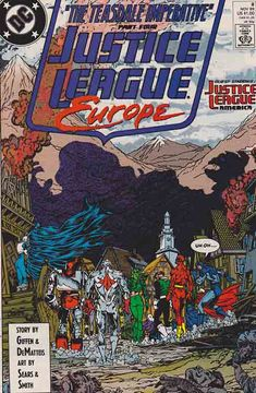 Justice League Europe #8 (1989) Bart Sears Cover & Pencils, Keith Giffen & J.M. DeMatteis Story Justice League Task Force, Justice League Dark, Justice League Unlimited, Rare Comic Books, Comic Book Covers, Justice League Pictures, Comic Book Publishers, Comics For Sale, Classic Comics