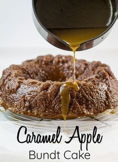 Caramel Apple Cake This easy recipe for Caramel Apple Bundt Cake creates the most, moist yet luxurious cake with spiced apples and smothered in Caramel, bake this treat for dessert or any occasion Food Cakes, Cupcake Cakes, Cupcakes, Bundt Cakes, Caramel Recipes, Apple Recipes, Apple Bundt Cake Recipes, Easy Recipes, Healthy Recipes