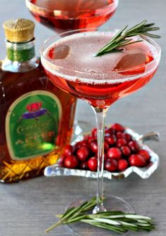 This Cranberry Whisky Sparkler is the most perfect Holiday cocktail, can be made individually or ahead of time in a pitcher.