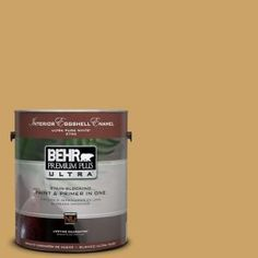 LIVING ROOM - BEHR Premium Plus Ultra 1-Gal. #PPU6-17 Classic Gold Eggshell Enamel Interior Paint-275301 at The Home Depot