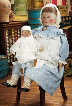 "The Blackler Collection (Part 2 of 2-Vol set): 174 Rare Large Size American ""Columbian Doll"" by Emma Adams with Babyland Rag Doll"