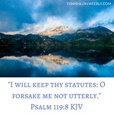Psalm 119:8 KJV