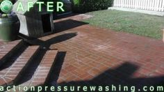 Brick Pressure Washing by Action {BEFORE/AFTER PICS}