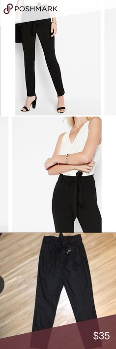 Express High Waisted Ankle Slacks THESE ARE SO CUTE. I bought them to change up my professional wardrobe, but then I got a job at Amazon HQ. 🤣🤣🤣 Never worn! Express Pants Ankle & Cropped