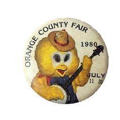 ORANGE COUNTY FAIR JULY 1980 pinback button vintage California