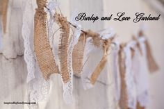 Burlap & Lace garland
