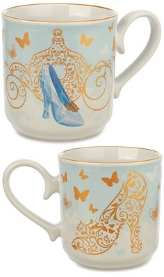 From the Disney Store and the Disney Parks, comes this pretty coffee mug featuring Cinderella's glass slipper. Suitable for any princess you know!