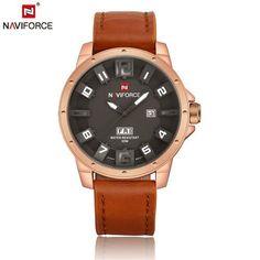 Naviforce Men's gift Watch relojes hombre 2017 Watches Men Quartz Analog 3D Face Clock male Army military sports watch reloj