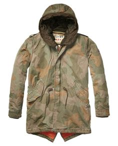 Cotton Parka With Detachable Inner > Mens Clothing > Jackets at Scotch & Soda