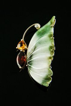 Jade Diamond Butterfly