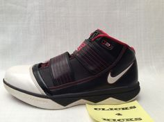 finest selection 3d1a2 5c9d8 NIKE ZOOM LEBRON SOLDIER 3 III  354815-011  WHITE BLACK VARSITY RED SIZE