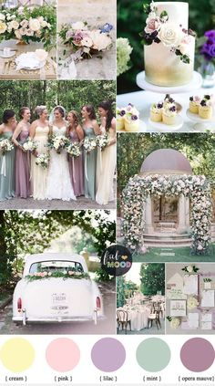 Pastel Wedding Colour Palette { Cream,Lilac,Mauve and Mint wedding }