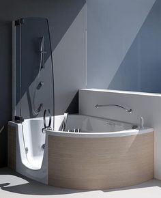 "Bathroom Remodel Ideas With Walk In Tub And Shower kholer 60"" rising wall soaking bath tub. a stylish alternative to"