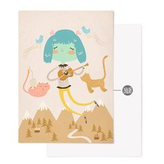 This pretty postcard has a glossy finish  Size: 10.5x14.7cm    Send them to you friends or frame them :)    Designed and illustrated by Isabel Reyes