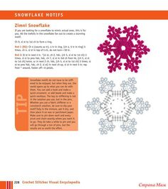 "Crochet Stitches VISUAL Encyclopedia (crochet): Diary of the ""Craft Club"" - Country Mom Crochet Snowflake Pattern, Crochet Stars, Christmas Crochet Patterns, Crochet Snowflakes, Christmas Snowflakes, Cute Crochet, Crochet Motif, Crochet Doilies, Crochet Flowers"