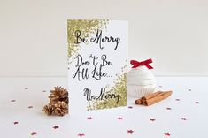 Be Merry. Don't Be All Like...UnMerry Holiday #papergoods #cards @EtsyMktgTool http://etsy.me/2i0kBql #funnycard #tv #popculture #bemerry