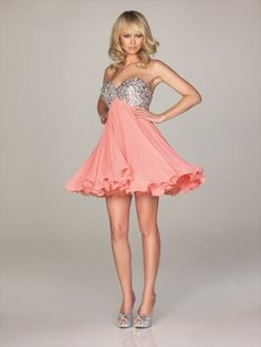(NO.0245253)2012 Style A-line Sweetheart  Rhinestone Sleeveless Short / Mini  Chiffon  Cocktail Dresses / Homecoming Dresses