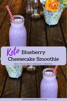 Best Keto Blueberry Cheesecake Smoothie – Delicious and filling keto smoothie! Best Keto Blueberry Cheesecake Smoothie – Delicious and filling keto smoothie! Smoothie King, Smoothie Bowl, Keto Breakfast Smoothie, Green Tea Smoothie, Avocado Breakfast, Low Carb Drinks, Low Carb Smoothies, Yummy Smoothies, Blueberry Cheesecake