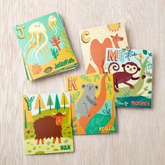 Alphabet Wall Cards by Allison Cole in Unframed Wall Art | The Land of Nod