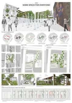 Projects presented to the Medellin experimental social housing International Architecture Competition for Students and Young Graduates Organized by ARCHmedium Social Housing Architecture, Architecture Courtyard, Architecture Panel, Landscape Architecture Design, Architecture Presentation Board, Presentation Layout, Planer Layout, Photomontage, Urban Design