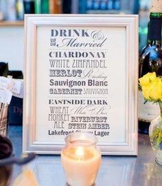 White bar menu frame