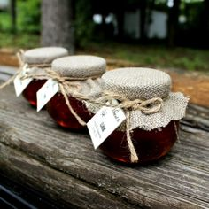 SET OF 65 4 oz. Rustic honey jar wedding favor by EcohausProject, $292.50