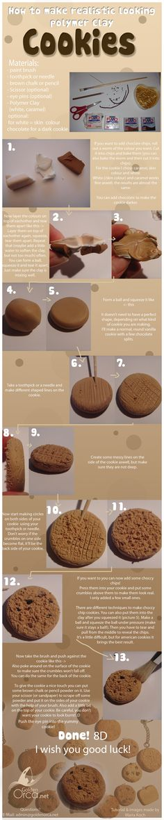 Polymer Clay Cookie Tutorial by ~MariaKoch on deviantART