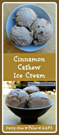 This cinnamon cashew ice cream is dairy-free and super creamy and delicious. It's also honey-sweetened and suitable for the GAPS and Paleo diets. Try this easy ice cream today!