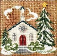 Snowy Church Needlepoint
