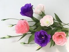 ABC TV | How To Make Lisianthus Paper Flowers From Crepe Paper - Craft Tutorial - YouTube