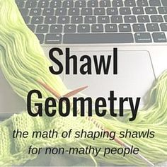 Shawl Geometry and framework pattern for common shawl shapes. Knit Or Crochet, Lace Knitting, Crochet Shawl, Knitting Stitches, Knitting Designs, Knitting Patterns, Charity Knitting, Knit Lace, Knitting Tutorials