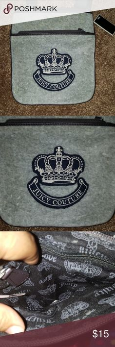 NWT Juicy Couture Crossbody Bag NWT Juicy Couture Crossbody Bag One of straps is loose see pic #5, if you can see or fix things be my guest. By all means I'm not crafty. Juicy Couture Bags Crossbody Bags