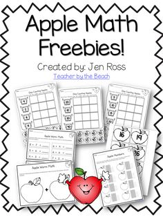 The Teachers' Cauldron: Peek at My Week 9.22 - Apple Week! - apple math freebies