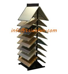 Double sides Waterfall View Metal Display Stand Header: logo Available Custom Design Available Showroom Interior Design, Flooring Shops, Panel, Custom Design, Mosaic, Waterfall, Tile, Display, Metal