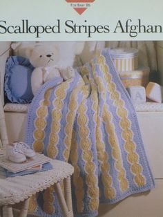 Scalloped Stripes Afghan pattern  Vanna's  by CarolsCreations77, $2.50
