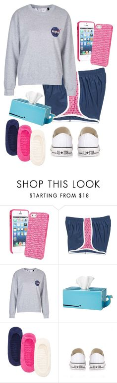 """Two more classes to go!!! "" by madelyn-abigail ❤ liked on Polyvore featuring Vera Bradley, CO, Topshop, Sperry Top-Sider and Converse"