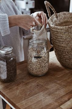Low waste inspiration Buy in bulk then transfer to glass jars for an eco-friendly, zero waste, plastic-free kitchen