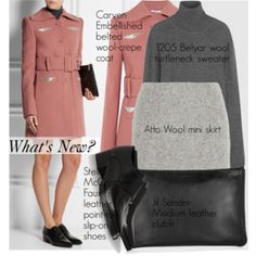 What's New?: Carven Embellished belted wool-crepe coat