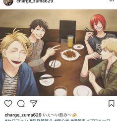 Bakugou Katsuki & Kirishima Eijirou & Kaminari Denki & Sero Hanta