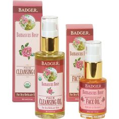 Damascus Rose Face Care Starter Set by Badger - certified organic