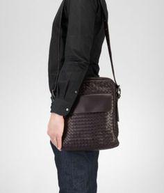 BOTTEGA VENETA - Messenger Bags, Ebano Intrecciato VN Cross Body Bag Classy  Casual, Messenger 3e349900c0