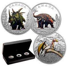 1/2 oz. Fine Silver Coloured 3-Coin Subscription - Day of the Dinosaurs…