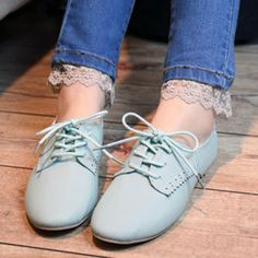 British female brogue oxford shoes