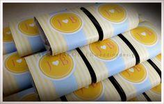Brownies em embalagens personalizadas. Acho fofo!