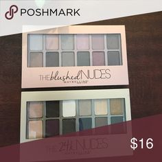 ❤⭐️2 maybelline eyeshadow palettes ⭐️ ⭐️ two brand new maybelline eyeshadow palettes in blushed nudes and 24 k nudes ... beautiful shades  Maybelline Makeup Eyeshadow