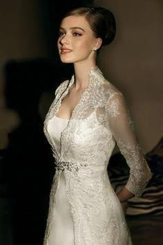high back collar low neckline long sleeve wedding dresses Western Wedding Dresses, Modest Wedding Dresses, Designer Wedding Dresses, Bridal Dresses, Wedding Gowns, Lace Wedding, Dream Wedding, Wedding Dress Collar, Long Sleeve Wedding