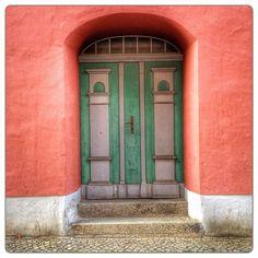 Door, in Stralsund, Mecklenburg-Vorpommern, Germany